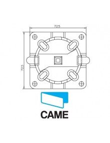 Came 001YM0114 - Support moteur Came Mondrian 5 rapide avec cheville