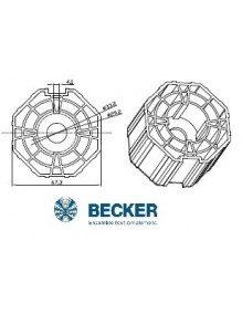 Bagues moteur Becker R Octogonal 70