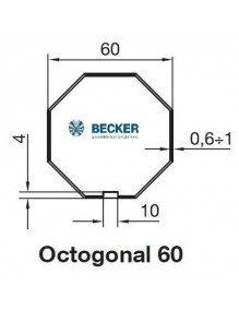 Becker R Octogonal 60 - Bagues moteur Becker R Octogonal 60