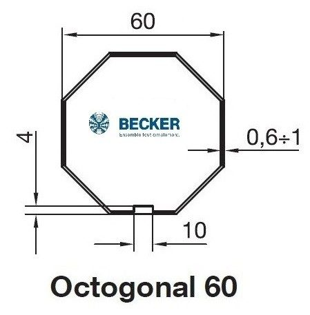 Becker R Octogonal 60 Bagues Moteur Becker R Octogonal 60