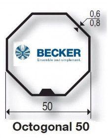 Becker R Octogonal 50 - Bagues moteur Becker R Octogonal 50