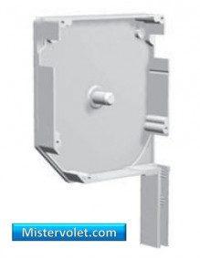 Flasque aluminium 45° 150 mm blanc laqué - Gauche