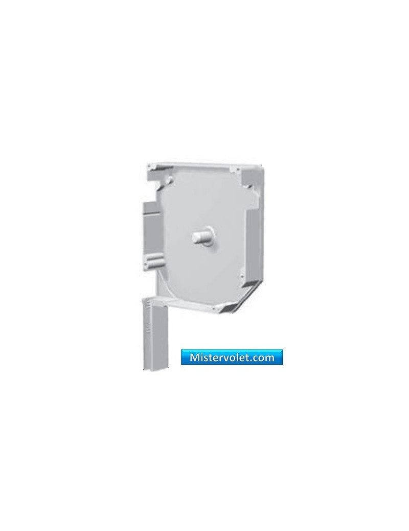 Flasque aluminium 45° 150 mm blanc laqué - Droite