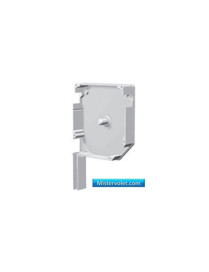 Flasque aluminium 45° 180 mm blanc laqué - Droite