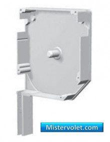 SZS205-01D - Flasque aluminium 45° 205 mm blanc laqué - Droite