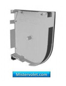 RZS150-01D - Flasque aluminium arrondie 150 mm blanc laqué - Droite