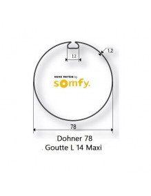 Somfy 9410325 - Bagues Donher 78 goutte 12 moteur Somfy LT50 et LT50 CSI