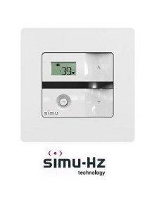Cadre pour emetteur Simu Hz mural Alu brossé