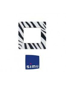 Simu 9019773 - Cadre pour emetteur Simu Hz mural Zèbre