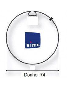 Simu 9521006 - Bagues Donher 74 moteur Simu T5 - Dmi5