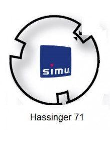 Simu 9521010 - Bagues Hassinger 71 moteur Simu T5 - Dmi5