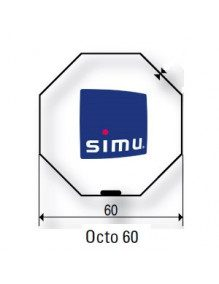 Simu 9521039 - Bagues Octogonal 60 Simbac roue ABS droit moteur Simu T5 - Dmi5