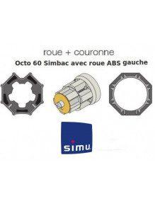 Bagues Octogonal 60 Simbac roue ABS gauche moteur Simu T5 - Dmi5