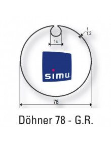 Simu 9530107 - Bagues Dohner 78 moteur Simu T6 - Dmi6