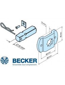 Support moteur Becker L carré de 16