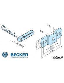 Becker 49302000300 - Support moteur Becker R carré de 10