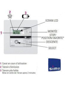 Emetteur Simu Hz mural 5 canaux