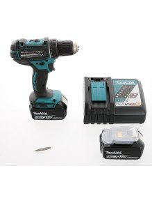 Makita DHP482RTJ - Perceuse visseuse à percussion Makita 18V 5 Ah Li-Ion