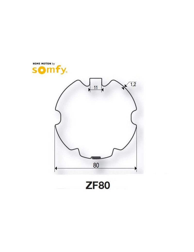 Somfy 9001474 - Bagues ZF80 moteur Somfy LT50 et LT50 CSI