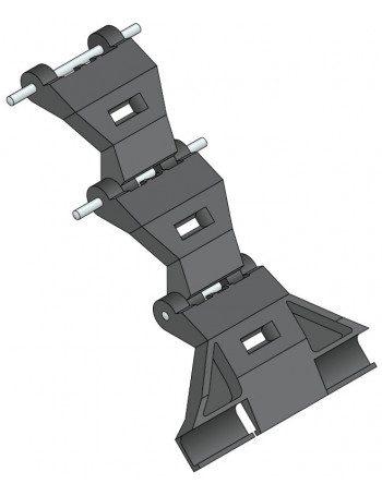 Charnière 9840233 - Charnière VAS - 3 éléments - Lame de 9 mm