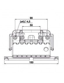 Attache 9012486 - Attache rigide Clicksur - 3 elements - Lame de 8 mm