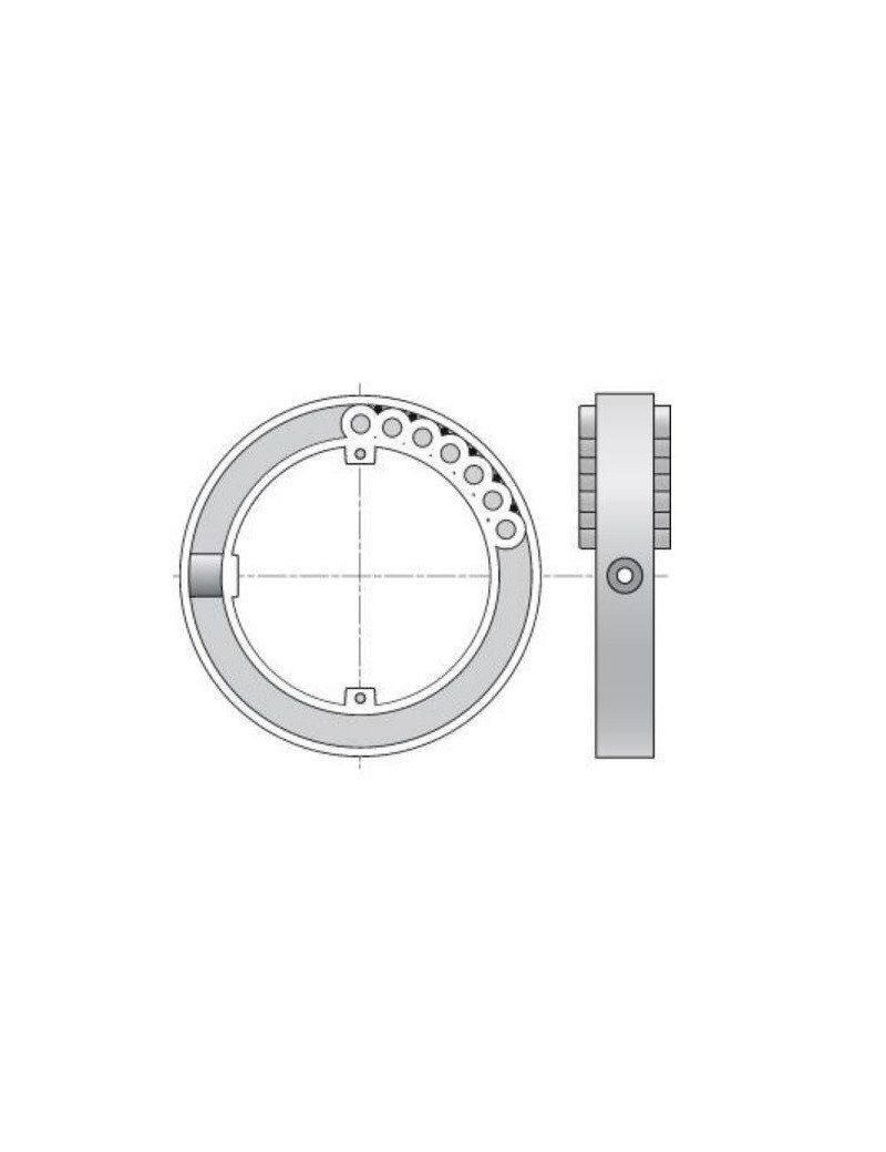 ZF H825 - Bague Blocksur tube ZF45 - Volet roulant