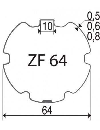 Profalux ZF64 - Bagues ZF64 moteur Profalux