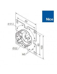 Nice 535.10012 - Support moteur Nice Era M universel