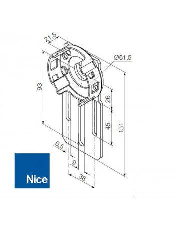Support moteur Nice standard réglable