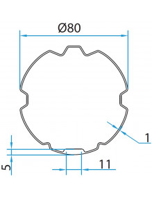 Bagues adaptation ZF 80 Cherubini A4505_0517