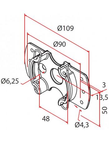 Cherubini A4506_0612 - Support moteur Cherubini universel avec ailes