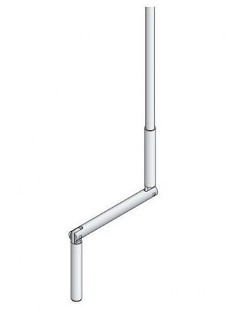 Simu 2008128 - Tige Manivelle oscillante blanche 1100 mm
