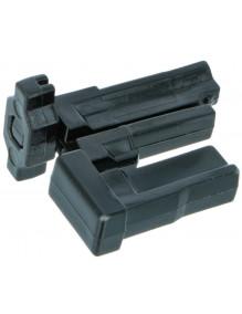 Butée noire encastrée amovible lame finale AR015