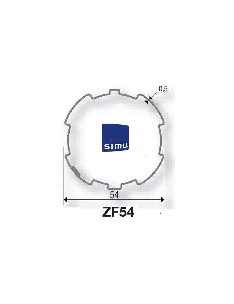 Bagues ZF54 moteur Simu T5 - Dmi5 (axe en coupe)