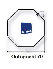 Simu 9521021- Bagues Octogonales 70 moteur Simu T5 - Dmi5