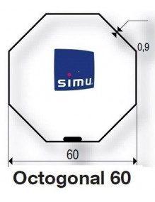 Simu 9521031 - Bagues Octogonales 60 Simbac moteur Simu T5 - Dmi5