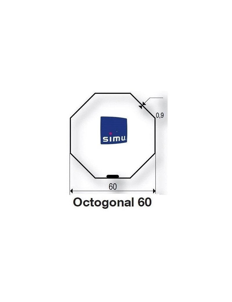 Bagues Octogonales 60 Simbac moteur Simu T5 - Dmi5 (axe en coupe)