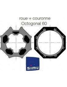 Bagues Octogonales 60 Simbac moteur Simu T5 - Dmi5 (roue et couronne)