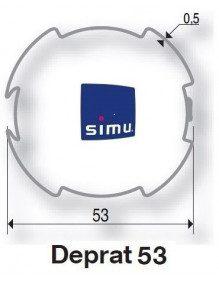 Bagues Deprat 53 moteur Simu T5 - Dmi5 (axe en coupe)
