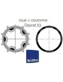 Bagues Deprat 53 moteur Simu T5 - Dmi5 (roue et couronne)