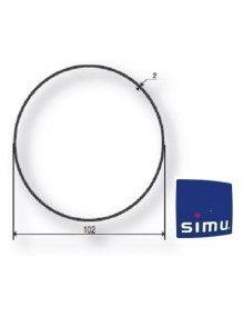 Bagues Rond 102 moteur Simu T5 - DMI5 (axe en coupe)