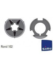 Bagues Rond 102 moteur Simu T5 - DMI5  (roue et couronne)