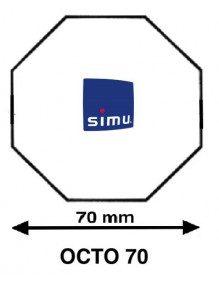 Simu 9521022 - Bagues Octogonales 70 Simbac moteur Simu T5 - Dmi5