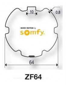 Somfy 9410400 - Bagues ZF64 moteur Somfy LT50 - LT50 CSI