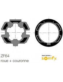 Bagues ZF64 moteur Somfy LT50 - LT50 CSI (roue et couronne)