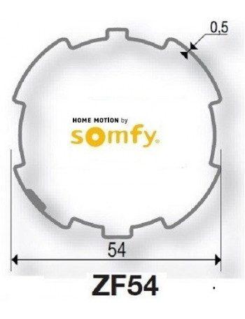 Bagues ZF54 moteur Somfy LT50 - LT50 CSI (axe en coupe)
