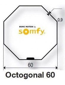 Somfy 9410332 - Bagues Octogonales 60 moteur Somfy LT50 et LT50 CSI