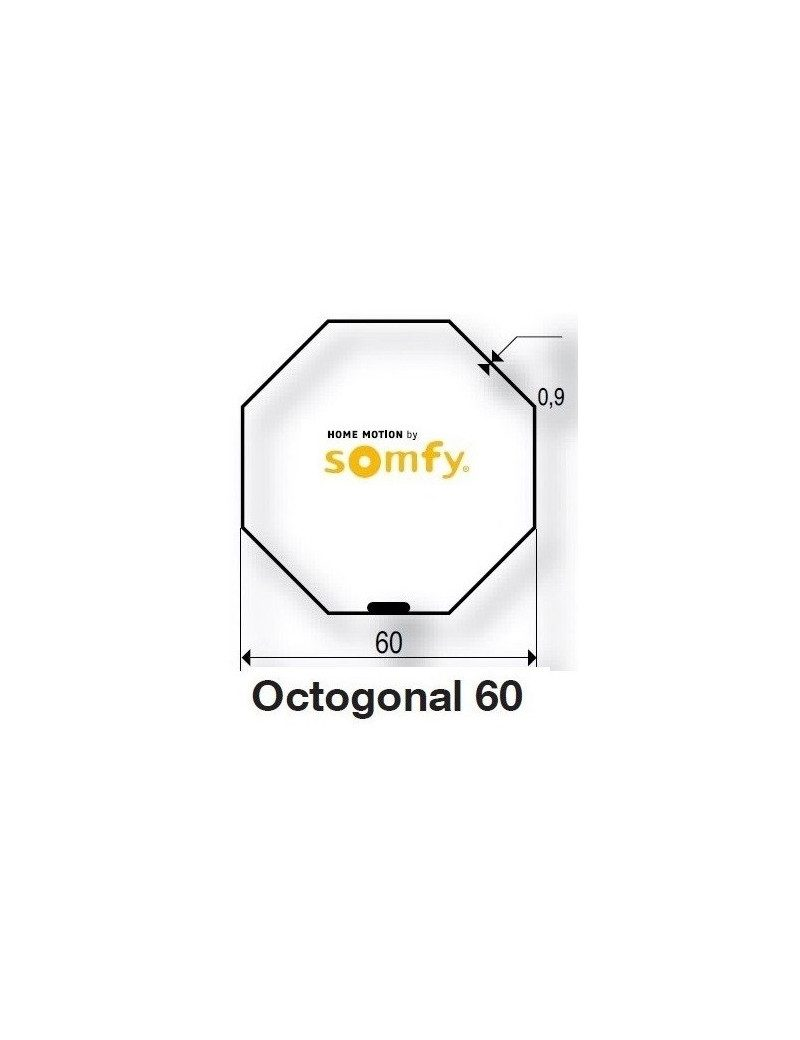 Bagues Octo 60 moteur Somfy LT50 et LT50 CSI (axe en coupe)