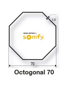 Somfy 9410336 - Bagues Octogonales 70 moteur Somfy LT50 et LT50 CSI