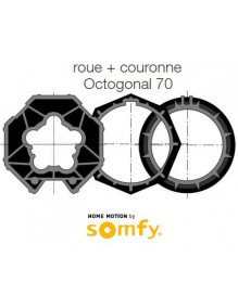 Bagues Octogonales 70 moteur Somfy LT50 et LT50 CSI